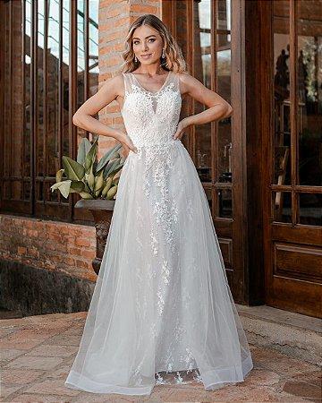 Vestido de Noiva Tule e Renda