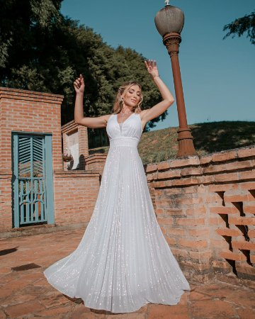 Vestido de Noiva Lurex