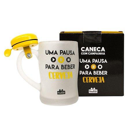 Caneca com Campainha Pausa Cerveja