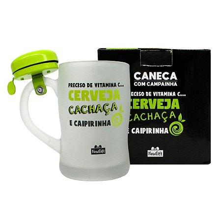Caneca c/ Campainha Cerveja Cachaça e Caipirinha