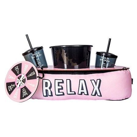 Almofada de pipoca com roleta - relax rosa