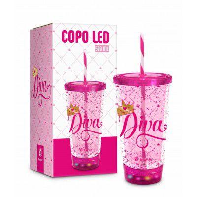 COPO LED CANUDO - FRASES - DIVA