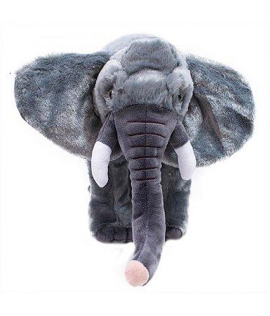 Elefante Cinza Realista  - Pelúcia Enfeite