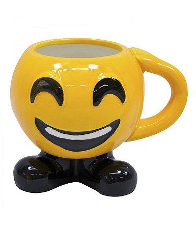 Caneca Porcelana Emoticon Feliz 400ml