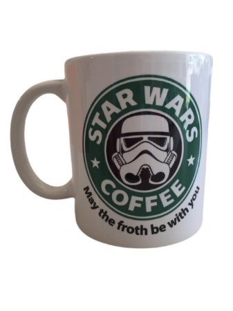 Caneca Porcelana Branca- Star Wars