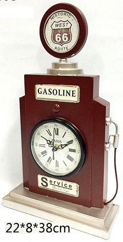 Relógio De Mesa Retrô Bomba De Gasolina