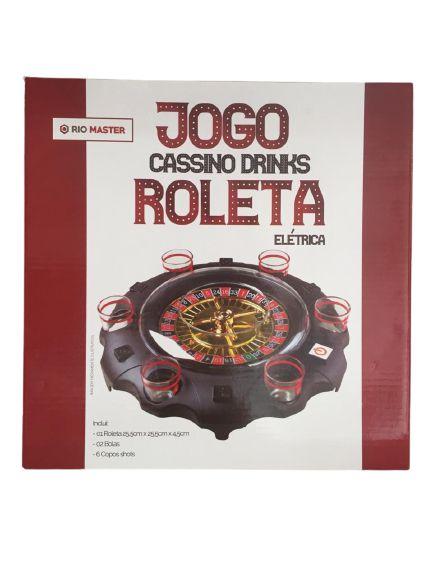 Jogo Cassino Drinks Roleta elétrica - 6 copos