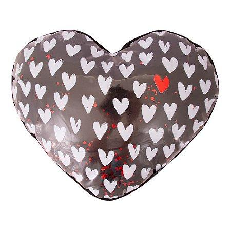 Almofada shape coração - amo teu sorriso