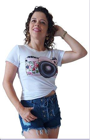 T-Shirt Perola na Gola