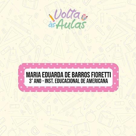 Cartela Avulsa - 80 Etiquetas