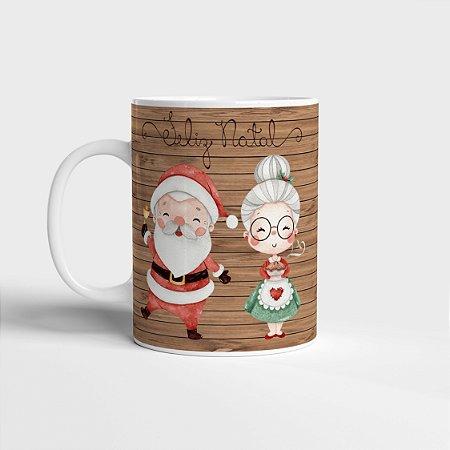Caneca Papai e Mamãe Noel