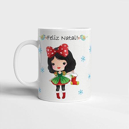 Caneca Branca de Neve Natal