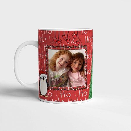 Caneca de Natal Personalizada com foto