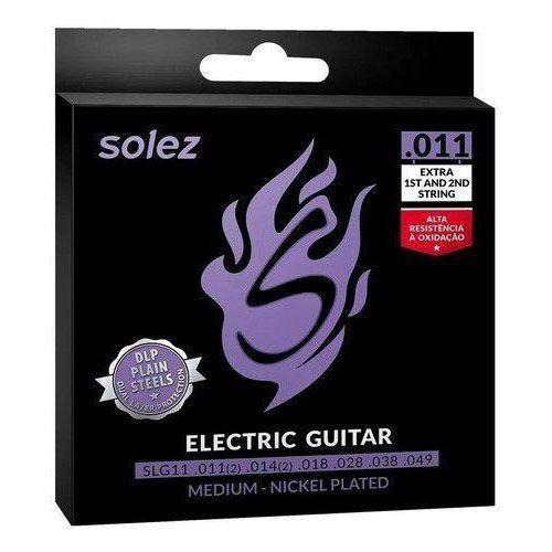 Encordoamento Guitarra Solez .011 Medium Nickel Plated