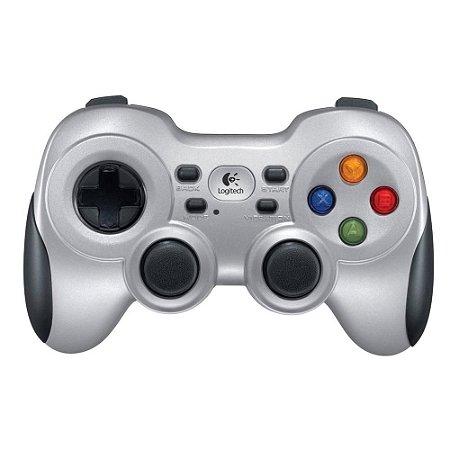 Controle de Jogos Gamepad sem fio Logitech F710 para PC e TV