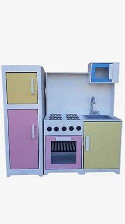 Kit Cozinha Acoplada Com Geladeira