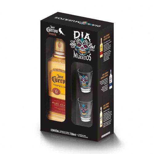 Kit Tequila José Cuervo 750ml + 2 Shots  Personalizados de vidro