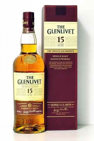 The Glenlivet Whisky Single Malt 15 anos Escocês 750ml
