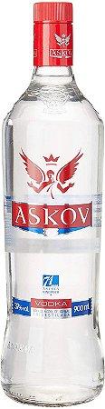 Vodka Askov 900ml - Kit com 3 unidades.