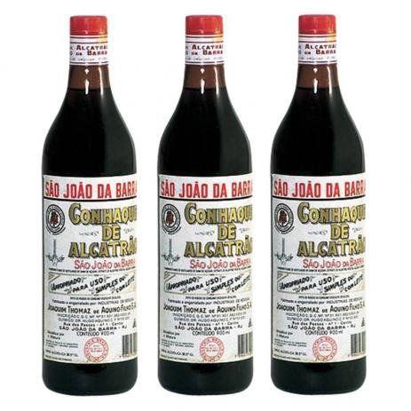 Conhaque de Alcatrão São João da Barra 900ml - Kit com 3(três) unidades