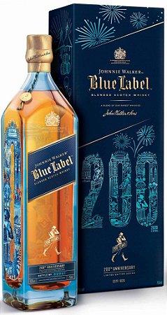 Whisky Johnnie Walker Blue Label  Edição Comemorativa de 200 anos 750ml