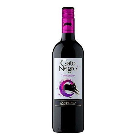 Vinho Chileno Tinto Carmenere Gato Negro 750Ml