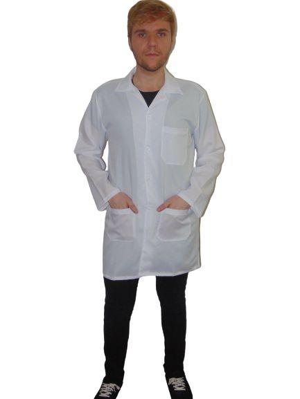 Jaleco Fluorita Masculino em Oxford, manga longa, branco
