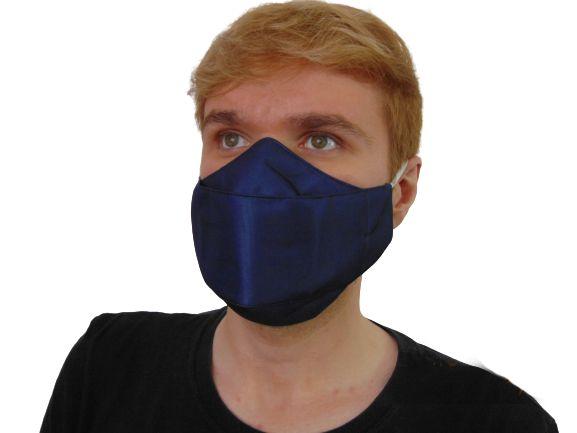 Máscara  antiviral Hematita, modelo 3D, Delfim Protect, dupla camada, fácil respiração, confortável