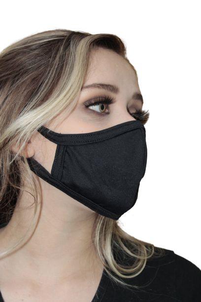 Máscara Antiviral Cromita Permanente, modelo anatômico, inativa vírus em até 2 minutos após contato