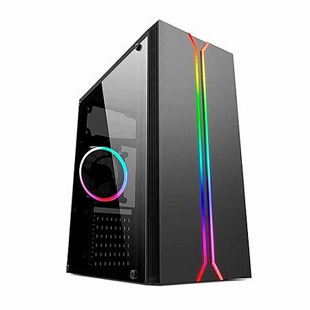 GABINETE LIKETEC RAINBOW LATERAL DE VIDRO  ((( RGB )))