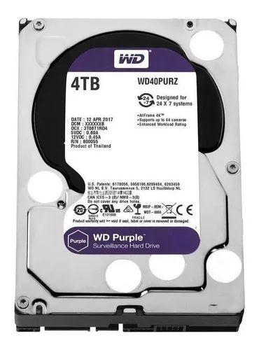 HD SATA 4TB  WESTER DIGITAL PURPLE