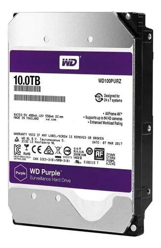 HD SATA 10TB WESTER DIGITAL PURPLE