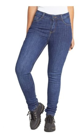 Calça Feminina Moto Jeans Kevlar Com Proteçao Corse