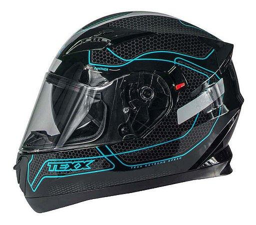 Capacete Texx G2 Panther Dupla Viseira Solar Azul