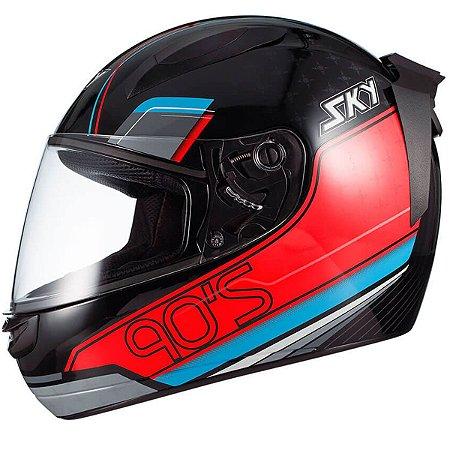 Capacete Moto Fechado Sky Esportivo Two Anos 90