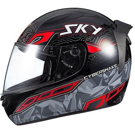 Capacete Moto Fechado Sky Esportivo Two Cyber Snake
