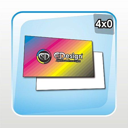 1000 Unidades - Cartões de Visita - UV Total Frente - Couchê 250g