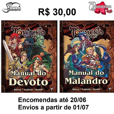 Livro RPG Tormenta  Manual do Devoto ou Manual do Malandro escolha o seu!