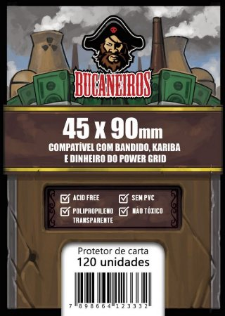 Sleeve Customizado - Bandido / Kariba / Dinheiro do Power Grid / Futuropia (45 x 90)