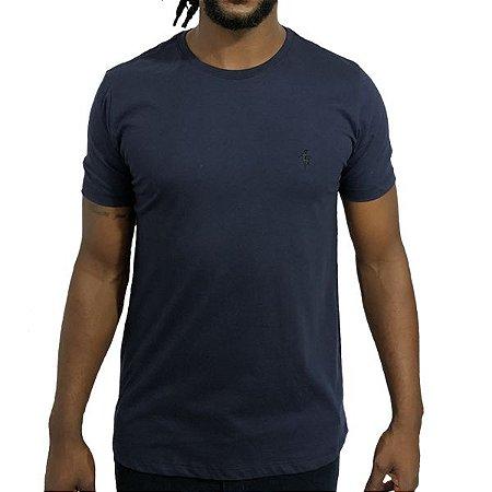 Camiseta Básica Jester Pixter Bordado Marinho