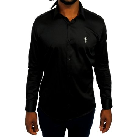 Camisa Slim Fit Preta