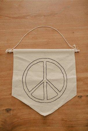 Bandeirinha Paz e Amor