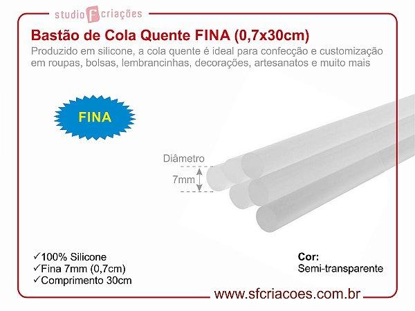Bastão de Cola Quente FINA (0,7x30cm)