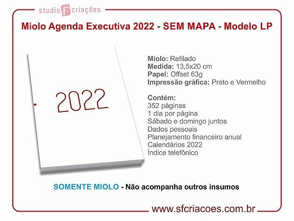 Miolo de agenda 2022 - SEM MAPA - Modelo LP