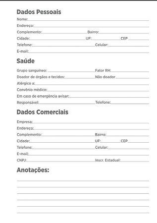 """Kit Para Caderno Universitario 20x27,5cm (miolo + papelão + bolsa canguru + wire-o 3/4"""")"""