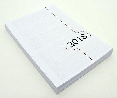 """05 Kit Agenda Executiva 2018 (miolo + papelão + bolsa canguru + wire-o 2x1 1"""")"""