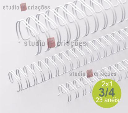 Wire-o 3/4 polegada - branco