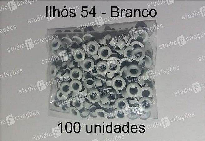 100 Ilhos 54 cor branca