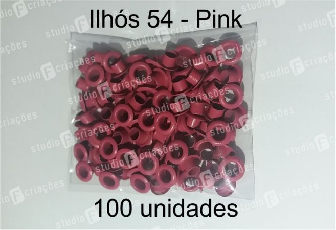 100 Ilhos 54 cor pink
