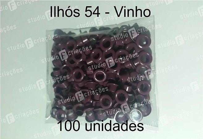 100 Ilhos 54 cor vinho